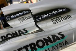Mercedes GP engine cover detail