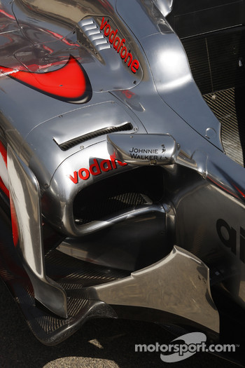 Mclaren air intake and outlet