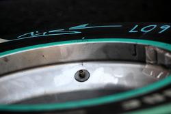 A bridgestone tyre of Michael Schumacher, Mercedes GP