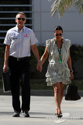 Martin Whitmarsh, McLaren, Chief Executive Officer with his partner