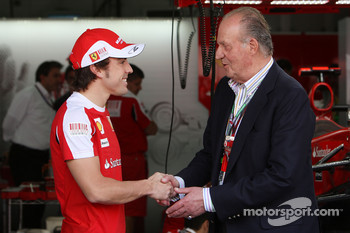 Fernando Alonso, Scuderia Ferrari, Juan Carlos I, King of Spain