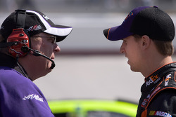 Denny Hamlin, Joe Gibbs Racing Toyota with his crew chief Mike Ford