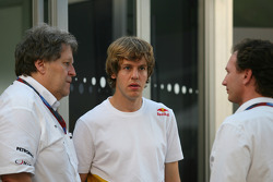 Norbert Haug, Mercedes, Motorsport chief with Sebastian Vettel, Red Bull Racing and Christian Horner, Red Bull Racing, Sporting Director