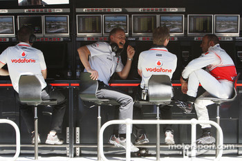 Martin Whitmarsh, McLaren, Chief Executive Officer, Lewis Hamilton, McLaren Mercedes