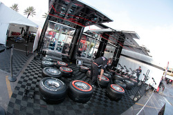 Team Penske paddock