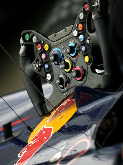 Steering wheel of Sebastian Vettel, Red Bull Racing