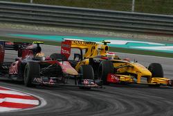 Jaime Alguersuari, Scuderia Toro Rosso and Vitaly Petrov, Renault F1 Team