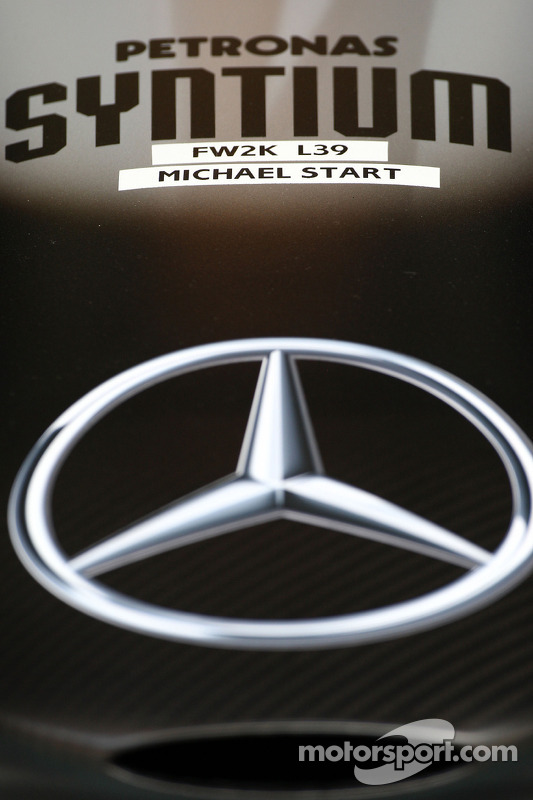 The nose cone of Michael Schumacher, Mercedes GP