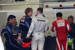 Pole winner Sebastian Vettel, Red Bull Racing, Michael Schumacher, Mercedes GP