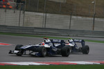 Rubens Barrichello, Williams F1 Team and Nico Hulkenberg, Williams F1 Team