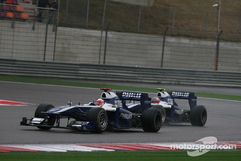 Rubens Barrichello, Williams F1 Team and Nico Hulkenberg, Williams F1 Team
