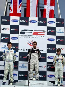 Podium from left: Jolyon Palmer, Phillipp Eng and Johan Jokinen