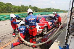 Pit stop for #97 Stevenson Motorsports Camaro GT.R: Randy Pobst, Gunter Schaldach