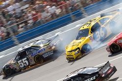 Johnny Sauter, Tommy Baldwin Racing Chevrolet crashes