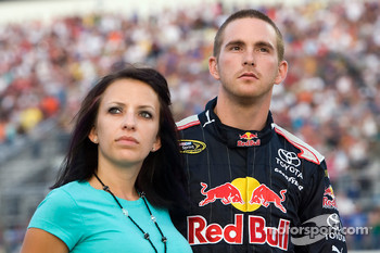 Scott Speed, Red Bull Racing Team Toyota and wife Amanda Mathis