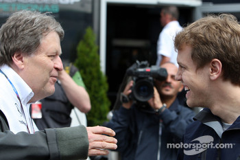Norbert Haug, Mercedes, Motorsport chief, Sebastian Vettel, Red Bull Racing