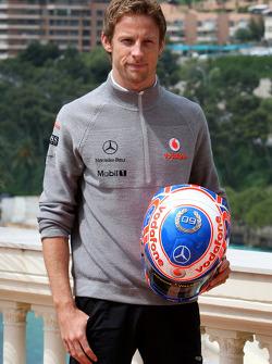 Jenson Button, McLaren Mercedes Monaco editiion helmets and steering wheels with Steinmetz Diamonds