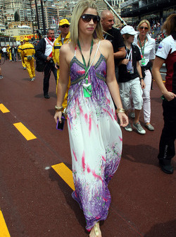 Isabell Reis, girlfriend of Timo Glock (GER)
