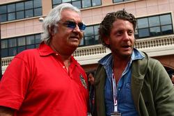 Flavio Briatore with Lapo Elkann, nephew of Gianni Agnelli