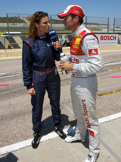 Timo Scheider, Audi Sport Team Abt interviewed by Christina Surer