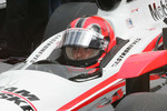 Helio Castroneves, Team Penske sits alone with his thoughts before qualifying
