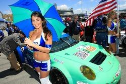 Lovely umbrella flag girl