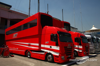Ferarri race trucks