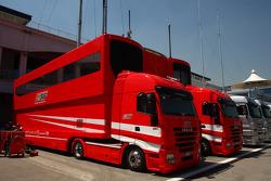 Ferarri race trucks