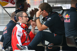 Stefano Domenicali Ferrari General Director and Christian Horner, Red Bull Racing, Sporting Director