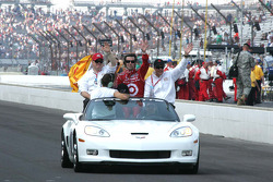Chip Ganassi and Dario Franchitti, Target Chip Ganassi Racing celebrate winning the 94th Indianapolis 500