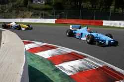 #2 Marijn van Kalmthout, Benetton B197 F1 and #24 Norbert Gruber, Dallara Nissan WS