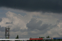 Clouds over the grandstands