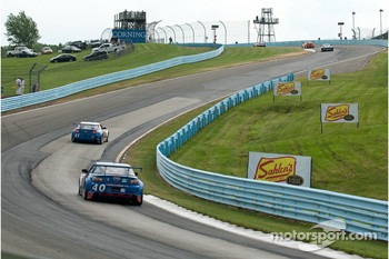 Cars head up the esses
