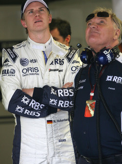 Nico Hulkenberg, Williams F1 Team and Patrick Head, WilliamsF1 Team, Director of Engineering