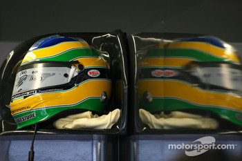 Helmet of Bruno Senna, Hispania Racing F1 Team HRT
