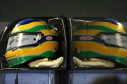 Helmet of Bruno Senna, Hispania Racing F1 Team HRT