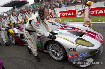 #70 Marc VDS Racing Team Ford GT on starting grid