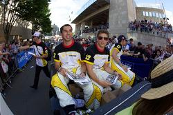 Neel Jani, Marco Andretti and Nicolas Prost