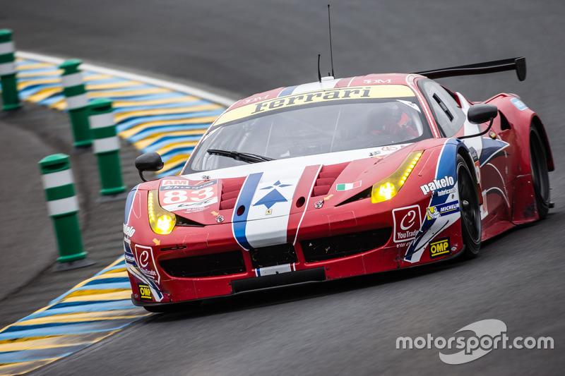 4. LMGTE-Am: #83 AF Corse,Ferrari 458 Italia