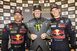 Winner Andreas Bakkerud, Hoonigan Racing Division, second place Sébastien Loeb, Team Peugeot Hansen, third place Timmy Hansen, Team Peugeot Hansen