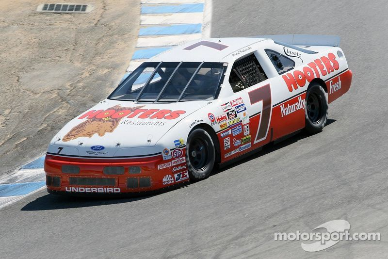 Mike Cesario in the Alan Kulwicki Hooters Thunderbird in the Corkscrew
