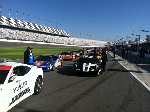 Front of the Saturday morning race grid