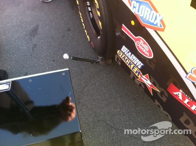 Fancy wheel chock - Gibbs racing style