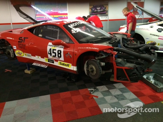 Mike Weinreb's Ferrari undergoes some needed repairs