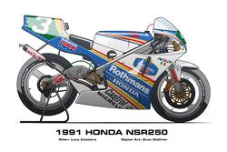 Honda NSR250 - 1991 Luca Cadalora