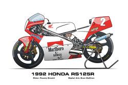 Honda RS125R - 1992 Fausto Gresini