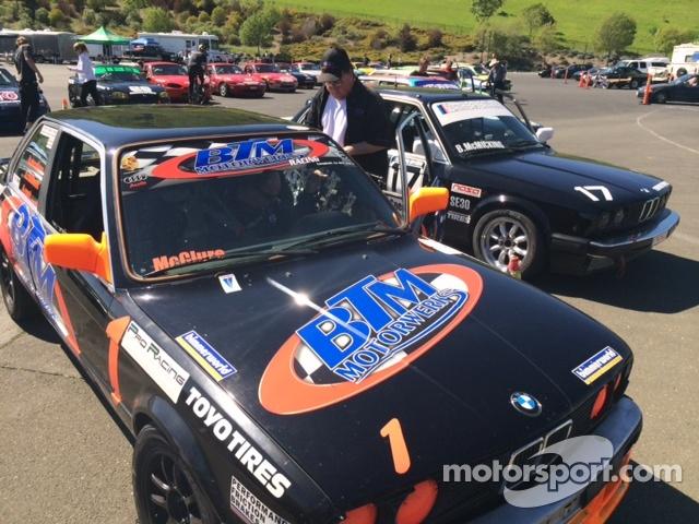 Gary McClure has Brad's BMW ready on the pre=grid