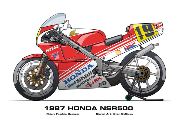 Honda NSR500 - 1987 Freddie Spencer