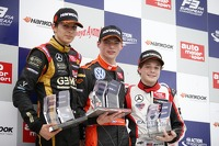 Podium at Norisring: Esteban Ocon, Max Verstappen, and Santino Ferrucci