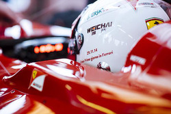 Sebastian Vettel tests a 2012 Ferrari F1 at Fiorano